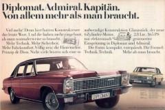 Werbung Opel Diplomat und Admiral (1970)